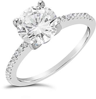 Sterling Forever Sterling Silver Brilliant CZ Ring