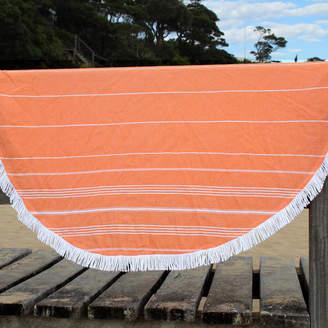 De La Mer Orange Round Turkish Towel