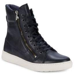 Rebel Side Zip Faux Fur High Top Sneakers