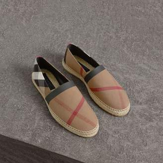 Burberry Check Cotton Canvas Seam-sealed Espadrilles