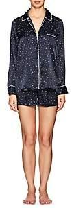 Barneys New York Women's Star-Print Silk Pajama Set-Navy Star