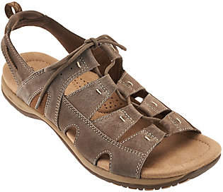 Earth Origins Suede Lace-up Sport Sandals -Sassy