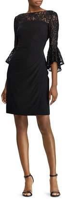Lauren Ralph Lauren Embellished Bell-Sleeve Dress