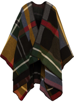 Holzweiler - Tableau Plaid Wool Wrap - Gray $325 thestylecure.com