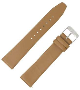 Dakota 18mm Smooth Calf Watch Band with Metal Buckle and QR Springbar