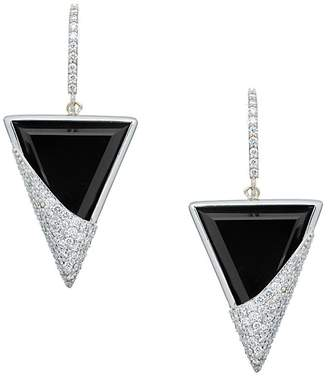Lana Women's Flawless 14K White Gold Triangular Drop Earrings