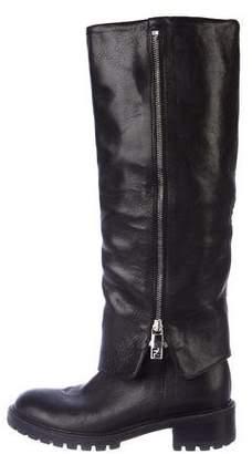Fendi Fold-Over Knee-High Boots