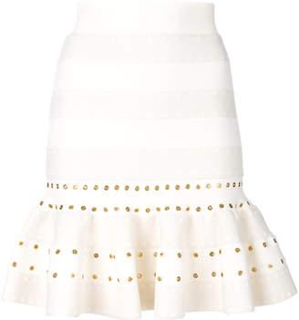 Alexander McQueen fluted mini skirt