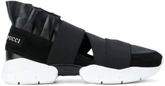 Emilio Pucci strap slip-on sneakers