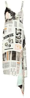 Monse Printed crêpe dress