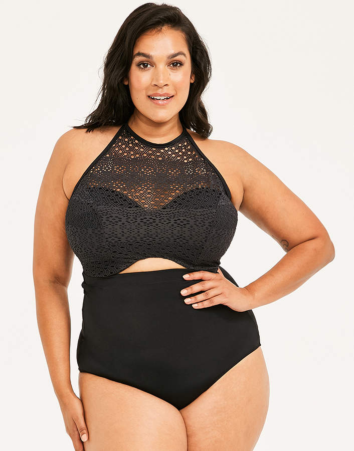 Indie Underwired Bandeau High Neck Bikini Top