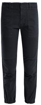 Nili Lotan Mid Rise Stretch Cotton Military Trousers - Womens - Navy