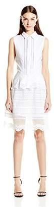 Jonathan Simkhai Women's Oxford Ruffle Dress