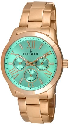 Peugeot Women's Rosetone Multifunction BraceletWatch