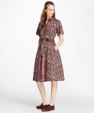 "Brooks Brothers B"" Print Cotton Shirt Dress"