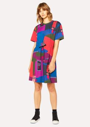 Women's Multi-Coloured 'Still Life Bouquet' Print Cotton Dress