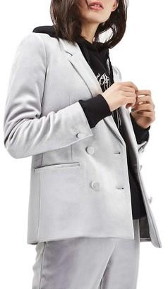 Women's Topshop Velvet Suit Jacket $140 thestylecure.com