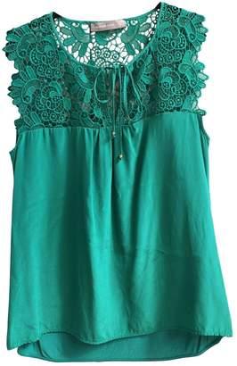 Hallhuber Green Silk Top for Women