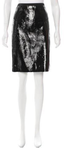 Tom Ford Textured Leather Skirt w/ Tags