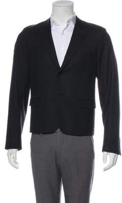 Christian Dior Striped Wool Blazer black Striped Wool Blazer