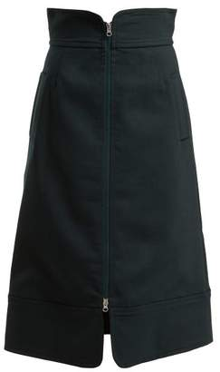 Sea Tradition A Line Skirt - Womens - Dark Green