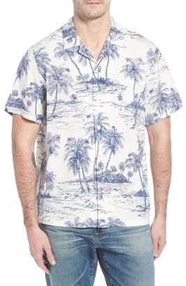 Blend of America Tori Richard Catalogue Trim Fit Silk Camp Shirt