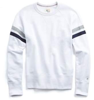 Todd Snyder + Champion Striped Raglan Sweatshirt In White