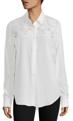 The Kooples Lace Yoke Shirt $285 thestylecure.com