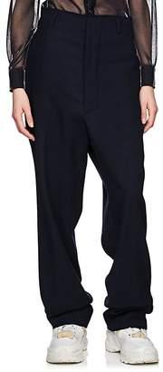 Maison Margiela Women's Distressed Wool Twill Trousers