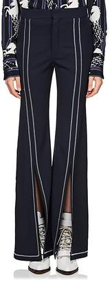 Chloé Women's Split-Front Wool Gabardine Flared Pants