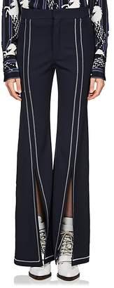 Chloé Women's Split-Front Wool Gabardine Flared Pants