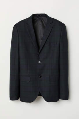 H&M Slim Fit Wool-blend Blazer - Black