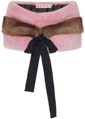 Marni Striped Mink Stole
