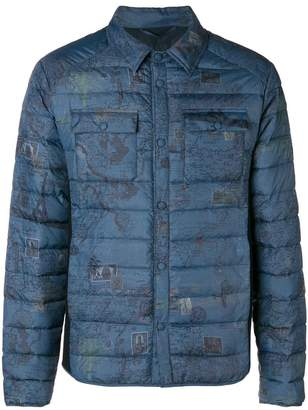 Etro map print padded jacket