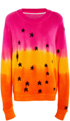 The Elder Statesman Regular Intarsia Star Cashmere Sweater