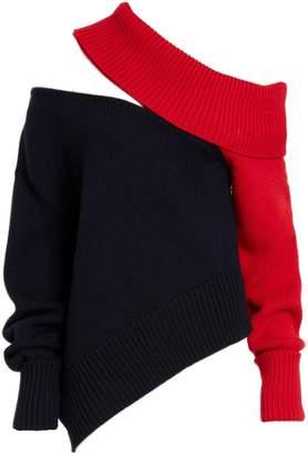 Monse Two-Tone Slashed Sweater