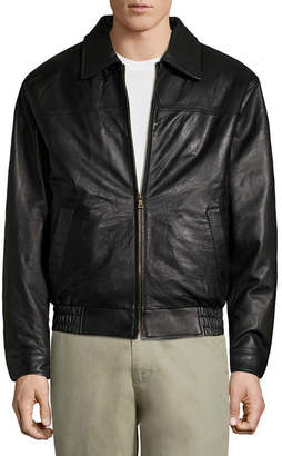 VINTAGE LEATHER Vintage Leather Lambskin Bomber Jacket with Zip Out Lining