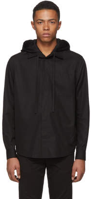 Craig Green Black Poplin Hooded Shirt Jacket