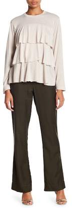 David Lerner Wide Leg Drawstring Waist Pants