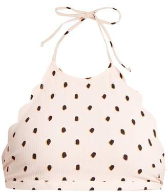 Marysia Swim Mott Scallop Edged Spotted Halter Top - Womens - Pink