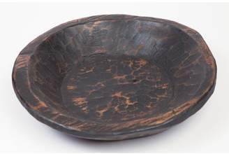 Loon Peak Jeremie Painted Round Rustic Wooden Dough Bowl