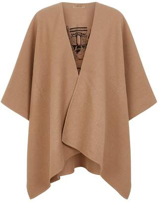 Burberry Cashmere Embroidered Skyline Poncho