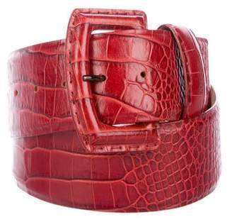 Max Mara Embossed Waist Belt