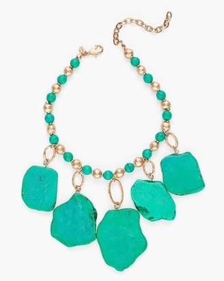 Green Stone Bib Necklace