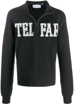 Telfar zip-up logo sweatshirt