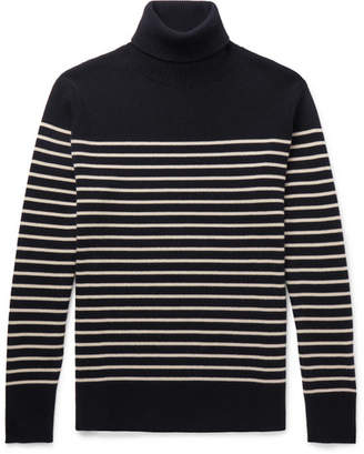 Brioni Striped Cashmere Rollneck Sweater