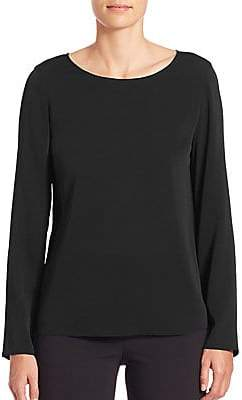 Armani Collezioni Women's Charmeuse Long Sleeve Blouse
