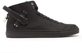 Buscemi 100mm Clean crocodile-effect nubuck trainers