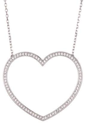 Swarovski Crystal Accented Cadmia Heart Pendant Necklace