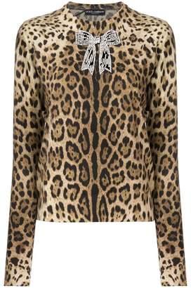 Dolce & Gabbana appliqué bow detail jumper
